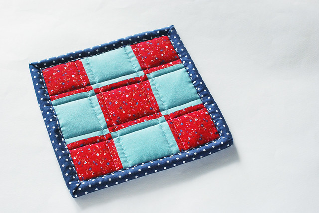 Semi-Patriotic Patchwork Pot Holder