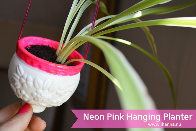 DIY  | Tiny Neon Pink Planter