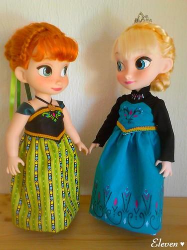 Anna & Elsa Robes de Couronnement