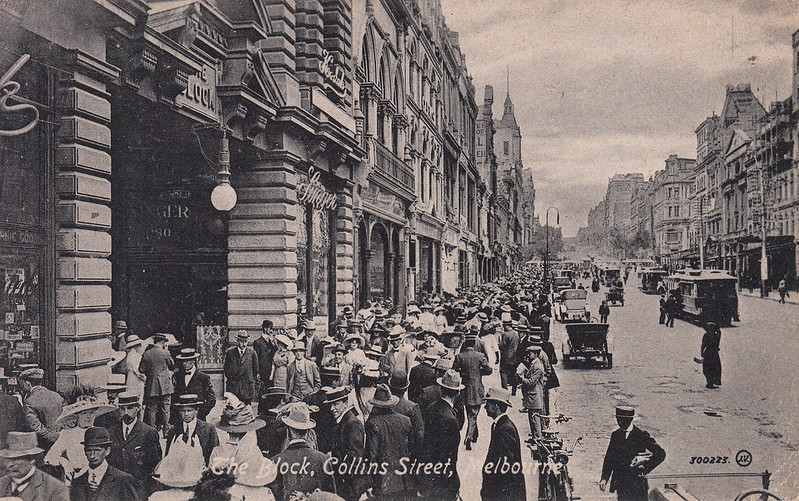 300223. The Block, Collins Street, Melbourne (c.1910)