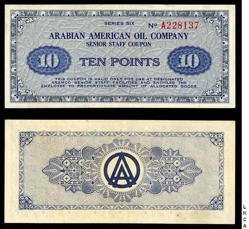 Arabian American Company 10 points Note