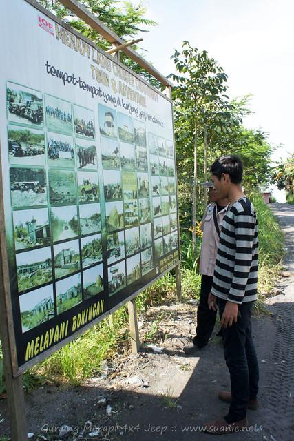 Yogyakarta - Gunung Merapi 4x4 Jeep tour - signboard