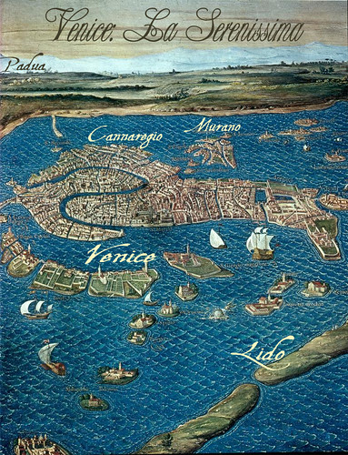 Venice map for Island of Glass
