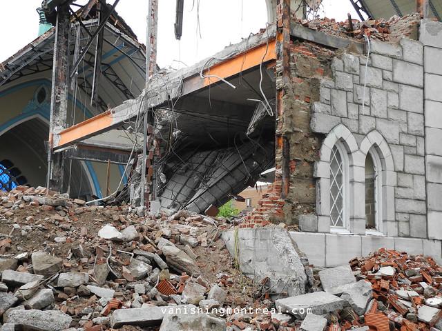 Eglise Notre-Dame-de-la-Paix demolition 6/06/14 09