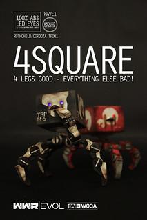threeA – WWR EVOL【4SQUARE】1/6 比例 四爪方塊