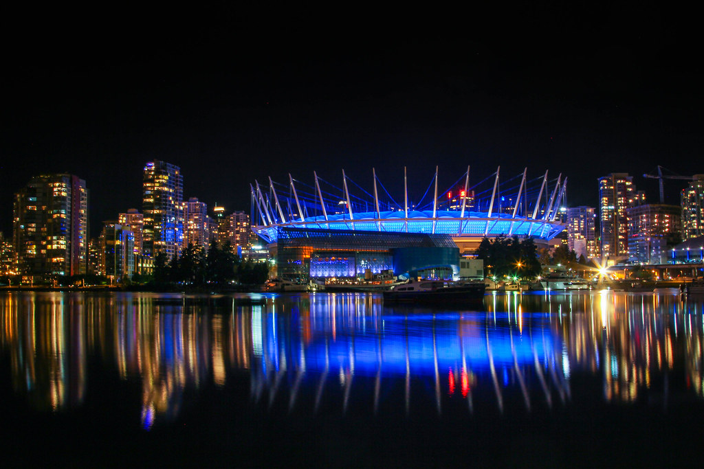 Rogers Arena, Downtown Vancouver at Night