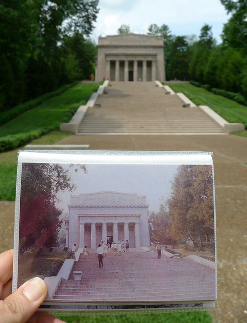 Lincoln Birthplace Monument, Now and in 1970