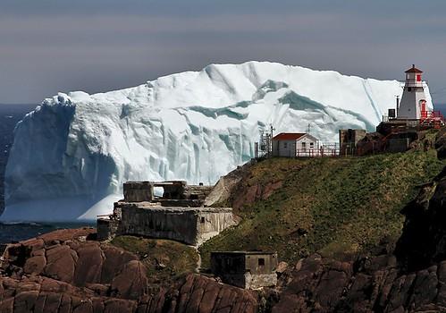 lighthouse seascape canada ice nature newfoundland landscape scenery scenic stjohns atlantic iceberg nfld eastcoast atlanticcanada fortamherst avalonpeninsula