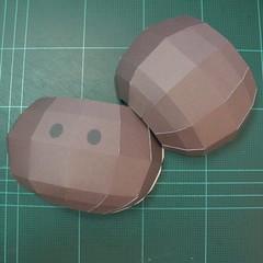 วิธีทำโมเดลกระดาษหมีบราวน์ชุดบอลโลก 2014 ทีมบราซิล (LINE Brown Bear in FIFA World Cup 2014 Brazil Jerseys Papercraft Model) 027