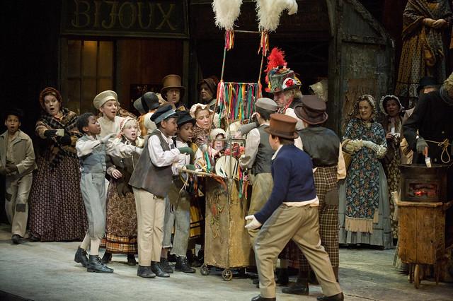 Act II of La bohème, The Royal Opera © ROH/Mike Hoban, 2012