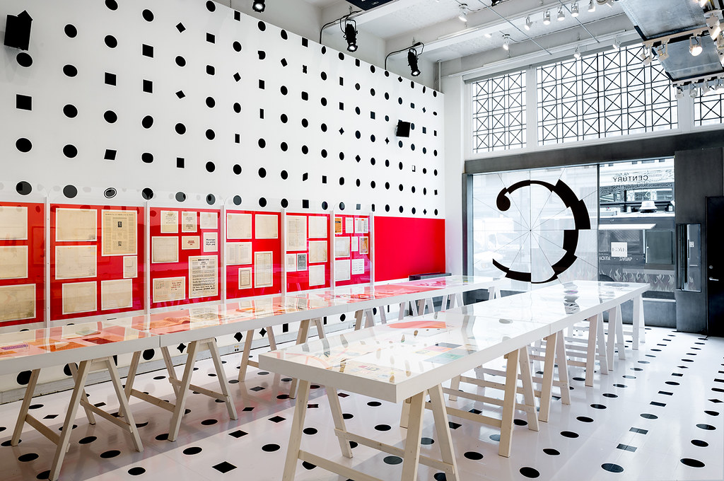 "Installation view of the ""Century: 100 Years of Type in Design"" exhibition at the AIGA National Design Center. Photo: © Bilyana Dimitrova"