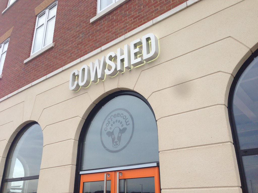 3D built up brushed steel effect letters with internal LED illumination