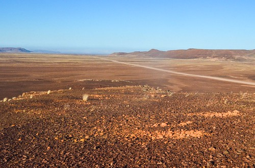 Deserted roads of the Dorob National Park, Namibia