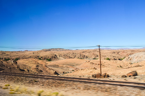 Railway of the Rössing uranium mine, Namibia