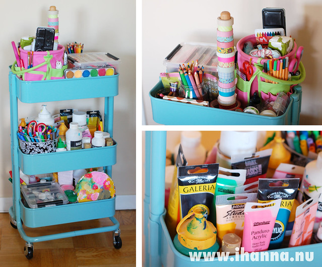 Ikea Aneboda Wardrobe Extra Shelf ~ Love Letter to Råskog  the turquoise Kitchen Cart for all Artists