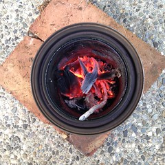 Made with http://makezine.com/projects/make-27/wood-gas-camp-stove