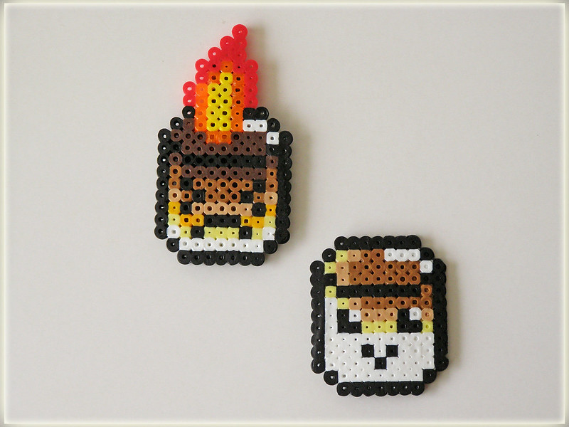 ~ perler bead art magnets...