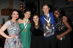 2014 Nominees Kaycee Murto, Sophia Tzougros, Emily Hadick, Eli Wills, and Julia Lindsey Whitcomb