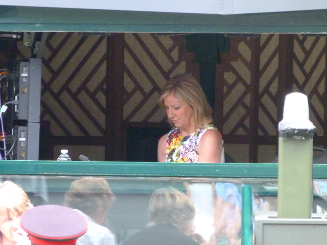 Chris Evert in the commentary box