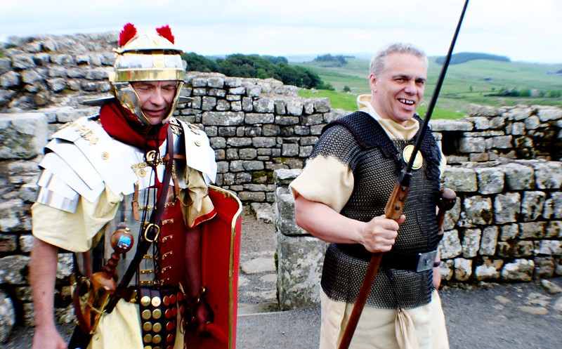 Roman Soldiers at Housesteads Fort, Hadrian's Wall, England