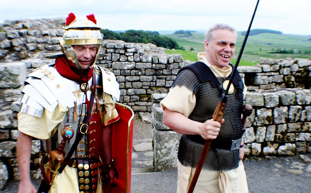 Reenactment Roman Soldiers, Housesteads Roman Fort