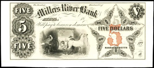 Miller's River Bank $5 proof