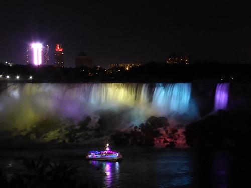 Cataratas del Niagara de noche (Canada)