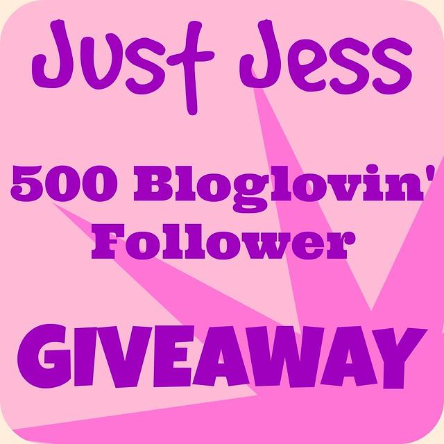 Just Jess 500 Bloglovin Follower Giveaway