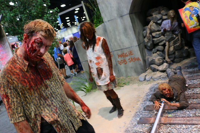 The Walking Dead booth at San Diego Comic-Con 2014