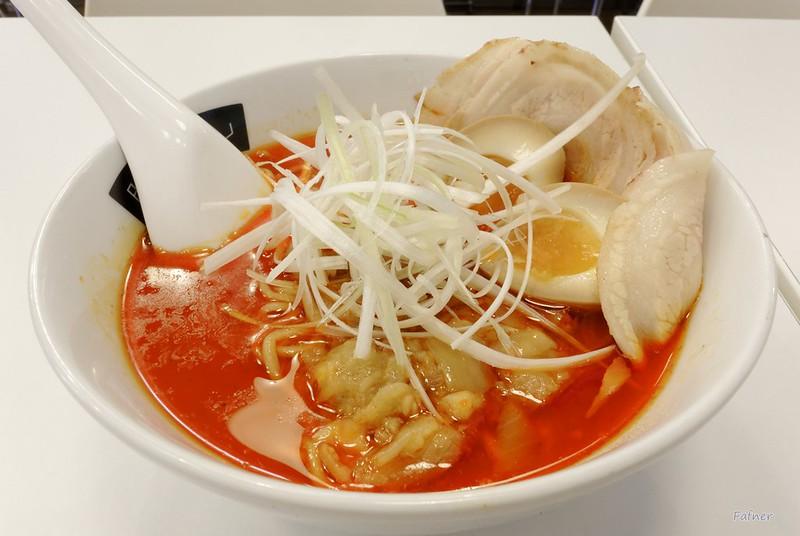 Katsu-tan ramen Shoyu soup spicy level 100