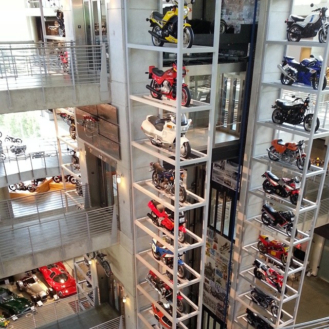 Like a vending machine...pick a motorcycle any motorcycle. ..
