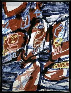 Site avec 3 personnages - Jean Dubuffet - 29 décembre 1981
