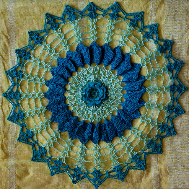 Doily in Shades of Blue