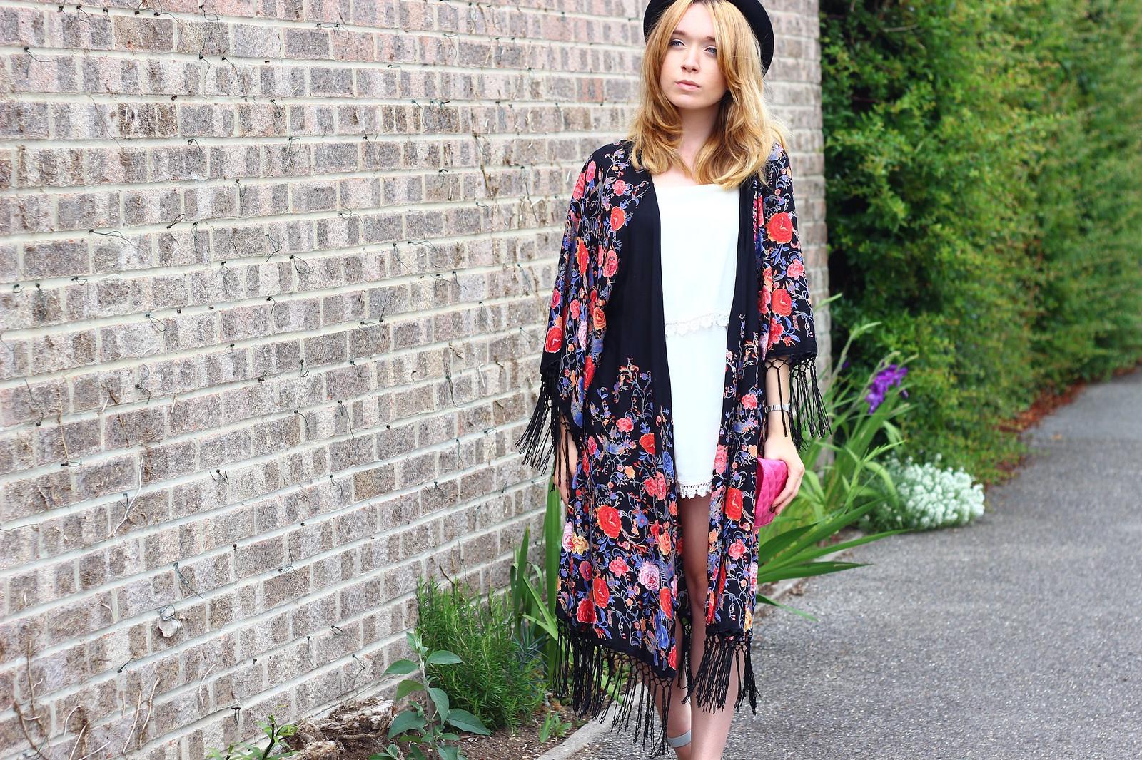 3primarkkimono, festival fashion, kimono, floral