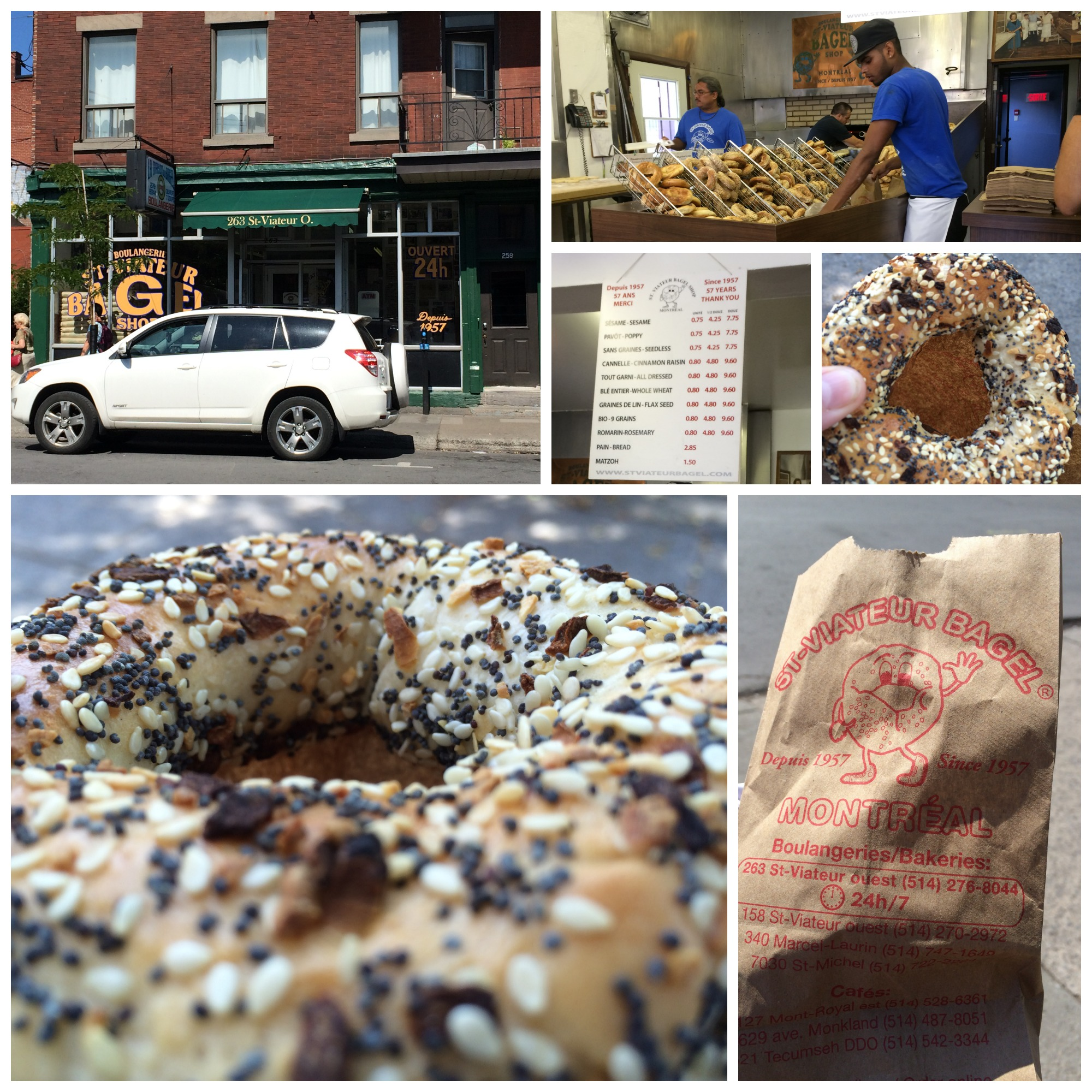 St-Viateur Bagel Collage