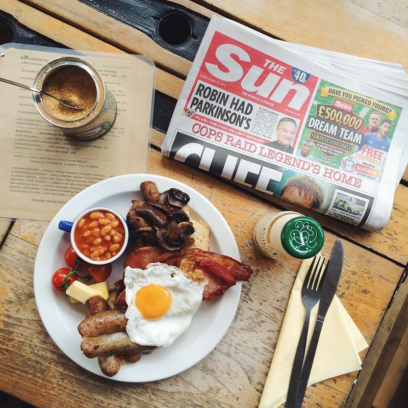 english breakfast lazy social london
