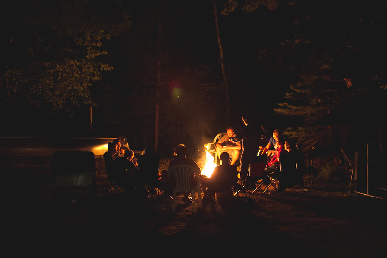 Group at Campfire