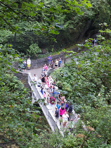 Crowded Bridge at Multnomah Falls