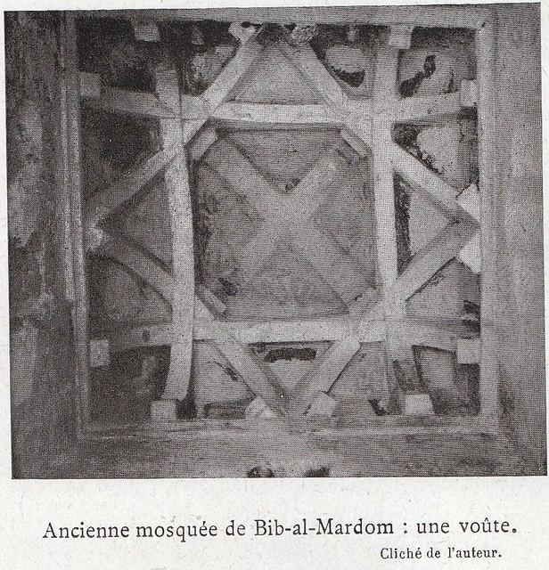 Cúpula de la Mezquita del Cristo de la Luz a comienzos del siglo XX. Fotografía de Élie Lambert publicada en su libro Les Villes d´Art Célebres: Tolède (1925)