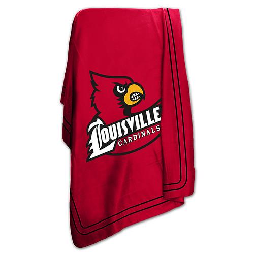 Louisville Cardinals NCAA Classic Fleece Throw
