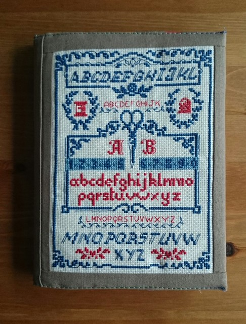 cross stitch book cover