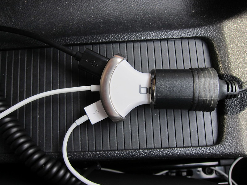 Bolse 25W (5A) 3-Port USB Car Charger - In Car