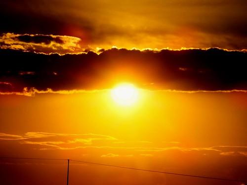 light orange sun clouds evening orangesky