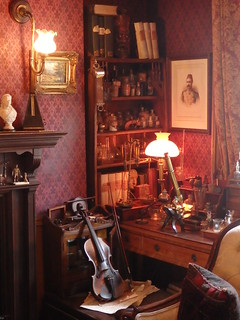Recreation of the Sitting Room in 221b Baker Street