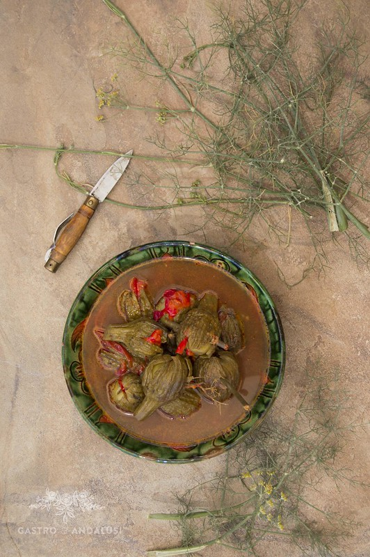 Berenjenas aliñadas con vinagre
