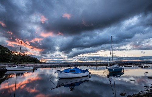 sunset reflections boats canon6d 1635f4l