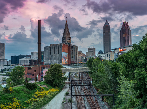 Ride the Rail to Downtown Cleveland HDR by Geoff Livingston