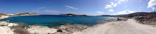 sea panorama islands greece kimolos