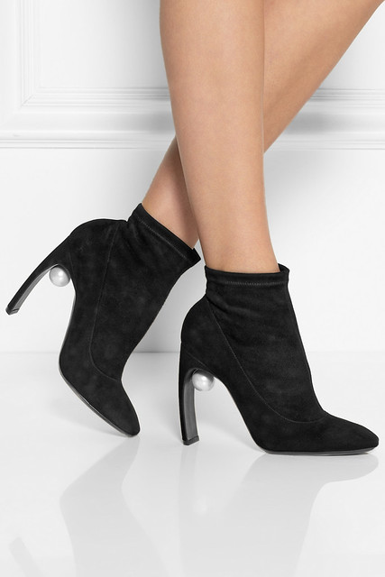 Nicholas kirkwood embelished stretch-suede ankle boots