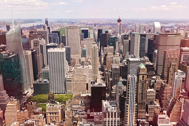 The view of Midtown Manhattan from the Empire State Building